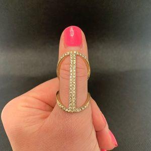 💎 Diamond & Gold Party Fashion Ring 💎
